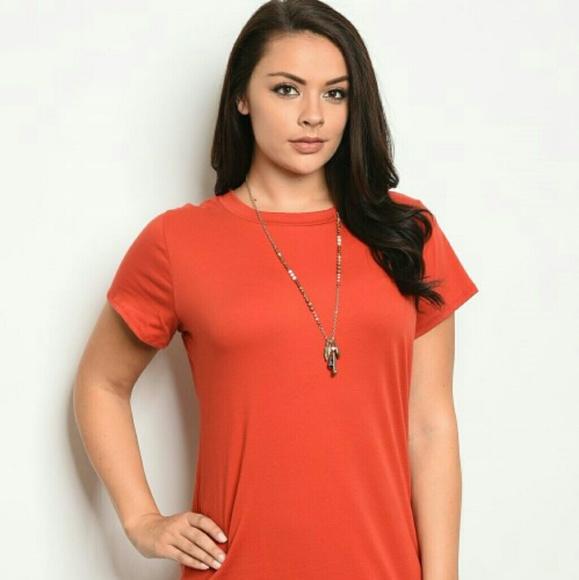 New Junior\'s Cute Boutique Rust plus size dress